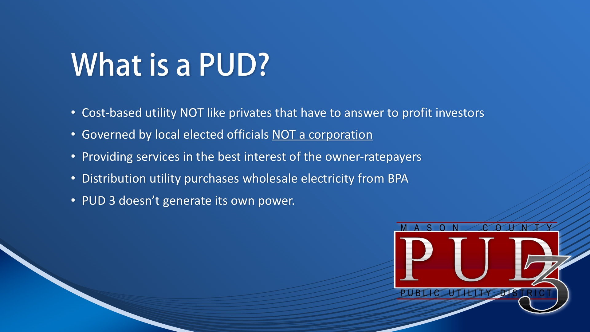 What is a PUD?