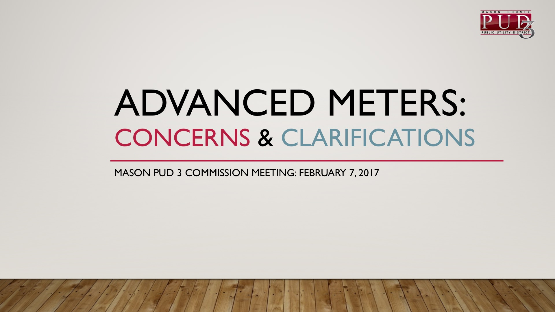 Commission Report Advanced Meters Concerns Clarifications