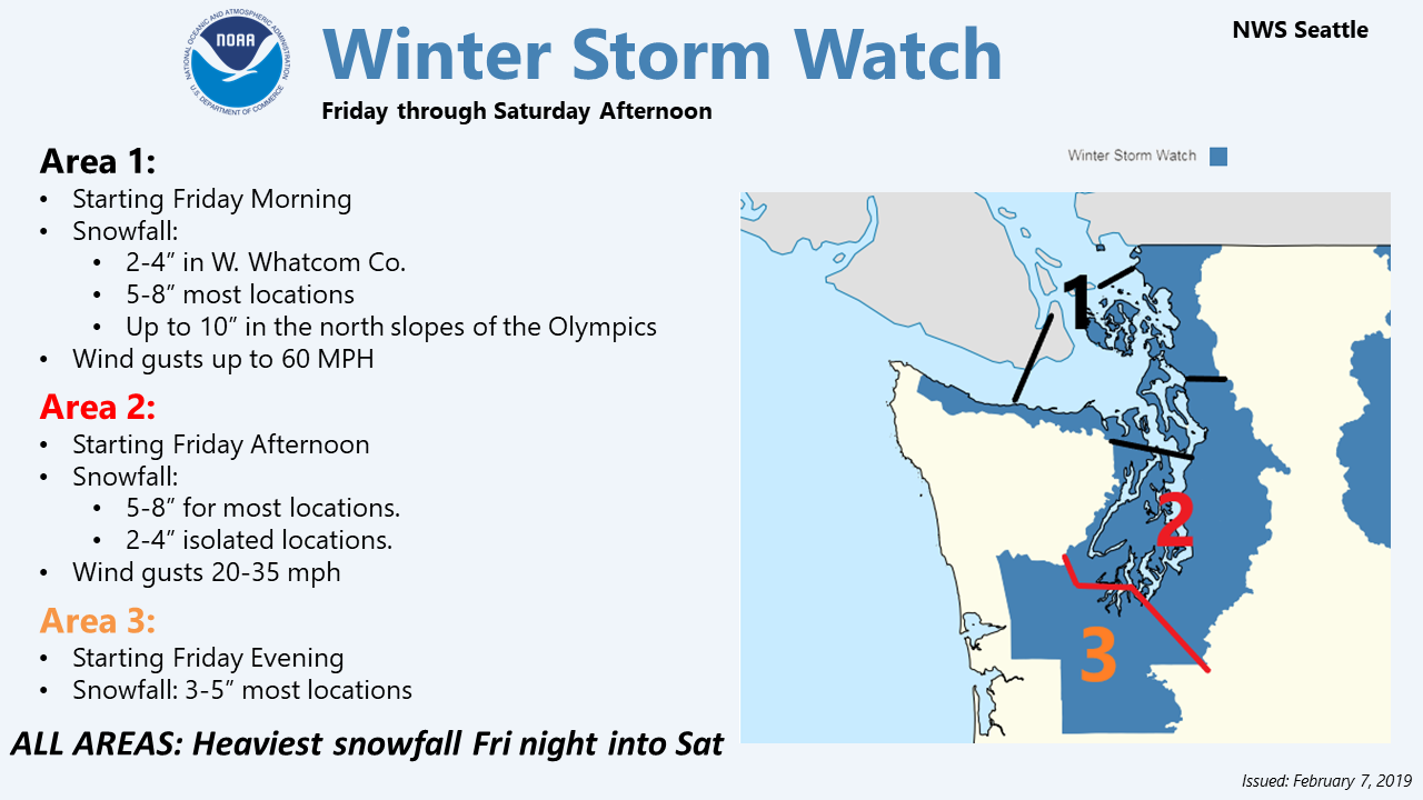 Winter Storm Watch Issued for Mason County and Much of